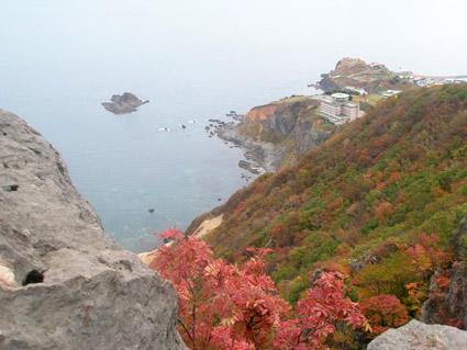 札幌近郊秋のトレッキング風景