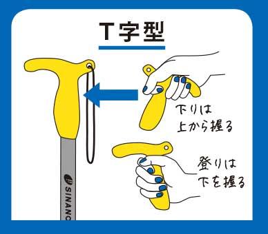 グリップ(T字型)
